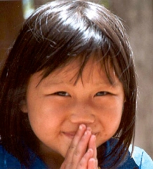 Thai Child wai.